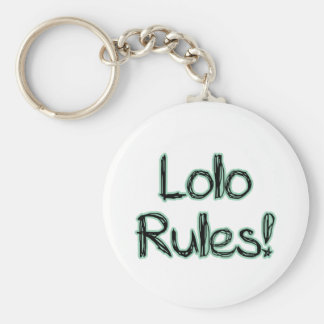 Lolo Rules! Basic Round Button Keychain