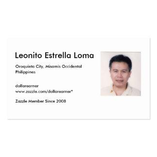 LomaELeonito, Leonito Estrella Loma, Oroquieta ... Double-Sided Standard Business Cards (Pack Of 100)