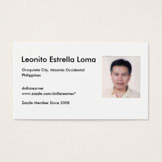 LomaELeonito, Leonito Estrella Loma, Oroquieta ... Business Card