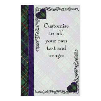 Lombard clan Plaid Scottish kilt tartan Flyer