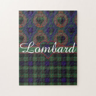 Lombard clan Plaid Scottish kilt tartan Jigsaw Puzzle