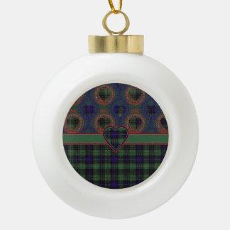 Lombard clan Plaid Scottish kilt tartan Ceramic Ball Christmas Ornament
