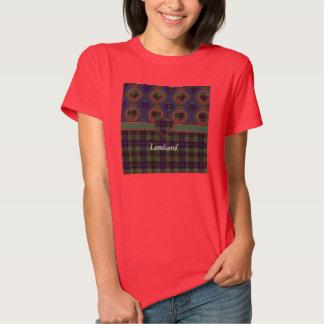 Lombard clan Plaid Scottish kilt tartan T-shirt