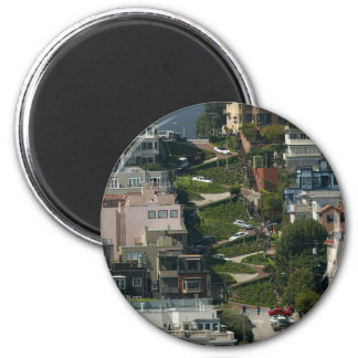 Lombard Street In San Francisco Americas Crookedes 2 Inch Round Magnet