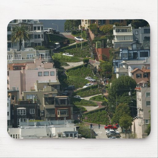 Lombard Street In San Francisco Americas Crookedes Mouse Pad