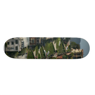 Lombard Street In San Francisco Americas Crookedes Skateboard
