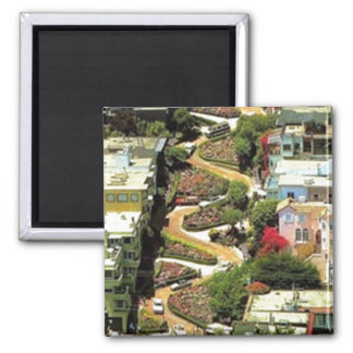 Lombard Street San Francisco CA 2 Inch Square Magnet