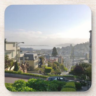 Lombard Street - San Francisco, California Beverage Coaster