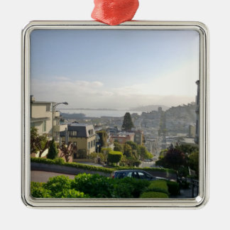 Lombard Street - San Francisco, California Metal Ornament