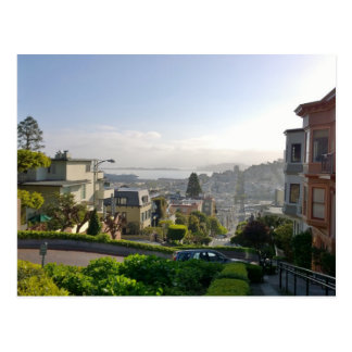 Lombard Street - San Francisco, California Postcard