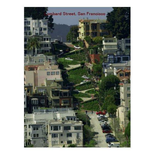 Lombard Street, San Francisco Post Card