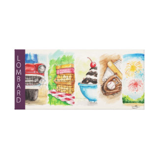 Lombard Summer Banners Stretched Canvas Prints