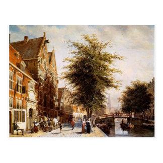 Lombard Voorburgwal Amsterdam by Cornelis Springer Postcard