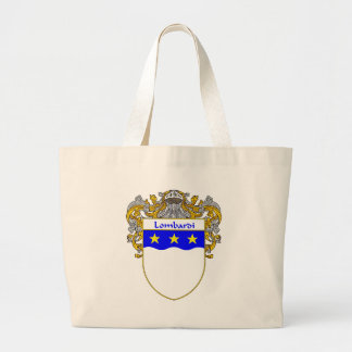 Lombardi Coat of Arms (Mantled) Large Tote Bag