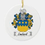 Lombardi Family Crest Christmas Tree Ornament