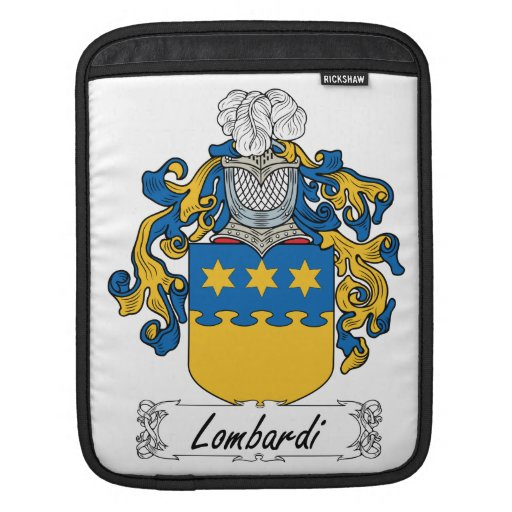 Lombardi Family Crest Sleeves For iPads