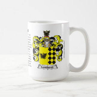 Lombardi, the Origin, the Meaning and the Crest Classic White Coffee Mug