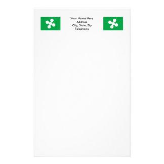 Lombardia flag stationery