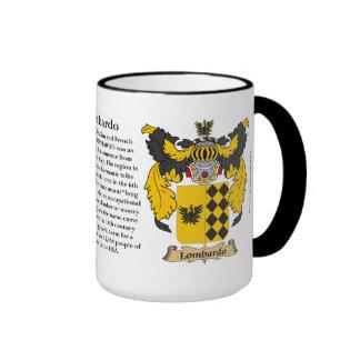 Lombardo Family Coat of Arms Ringer Mug