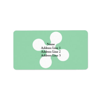 Lombardy, Italy flag Address Label