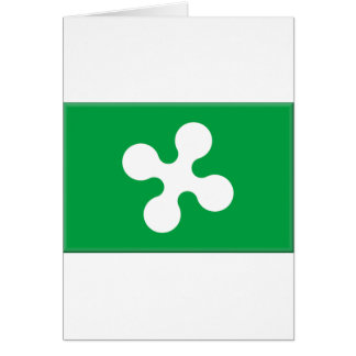 Lombardy (Italy) Flag Greeting Card
