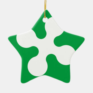 Lombardy (Italy) Flag Ceramic Ornament