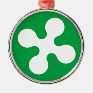 Lombardy (Italy) Flag Christmas Tree Ornament