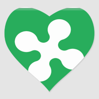 Lombardy (Italy) Flag Heart Sticker