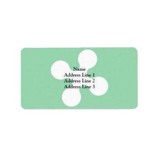 Lombardy, Italy flag Custom Address Label