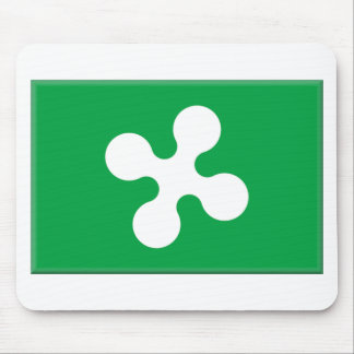 Lombardy Italy Flag Mouse Pad