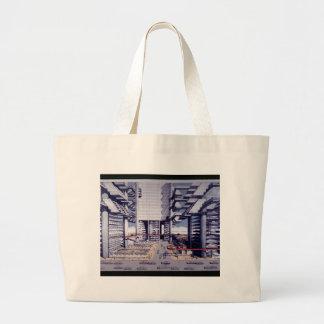 LOMEX Lower Manhattan Expressway Large Tote Bag