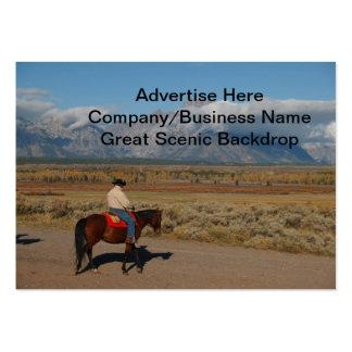 Lomo de caballo occidental escénico tarjetas de visita grandes
