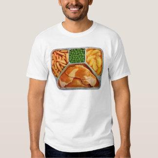 Lomo de cerdo retro de la cena de TV del kitsch Camisas
