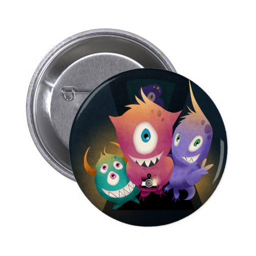 Lomo Fisheye Monsters Button