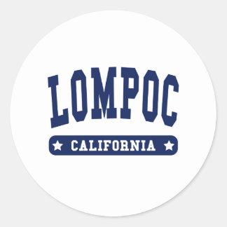 Lompoc California College Style tee shirts Classic Round Sticker