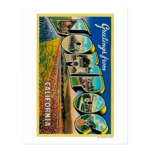 Lompoc, California - Large Letter Scenes Postcard