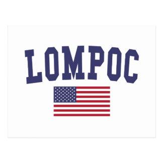 Lompoc US Flag Postcard