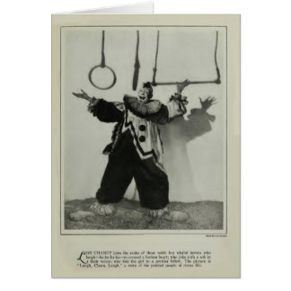 Lon Chaney 1928 vintage clown portrait card