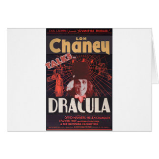 Lon Chaney as Dracula Card