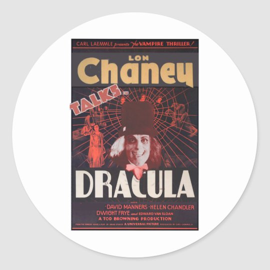 Lon Chaney as Dracula Classic Round Sticker