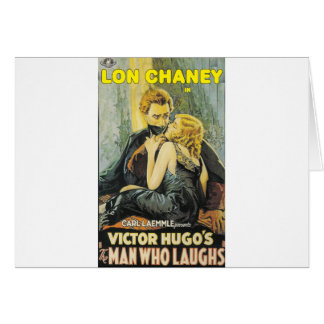Lon Chaney is The Man Who Laughs Card