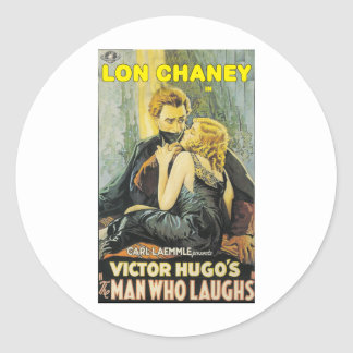 Lon Chaney is The Man Who Laughs Classic Round Sticker