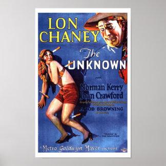Lon Chaney Joan Crawford el anuncio desconocido Póster