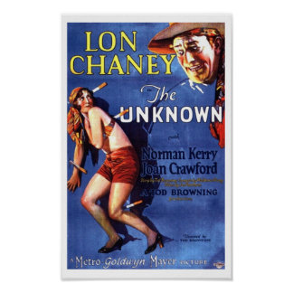 Lon Chaney Joan Crawford The Unknown ad Poster