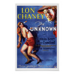Lon Chaney Joan Crawford The Unknown ad Posters