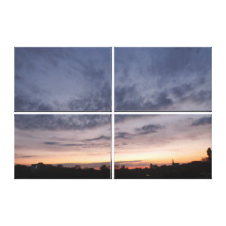 """Lona 36"""" x24"""" en paisaje de la puesta del sol del impresiones en lona"""