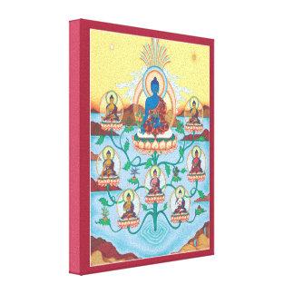 LONA - 8 medicina Buddhas - amos de la cura Lona Estirada Galerías