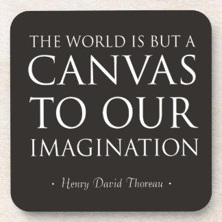 Lona a nuestra imaginación posavasos