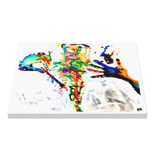 lona abstracta de la energía lienzo envuelto para galerias