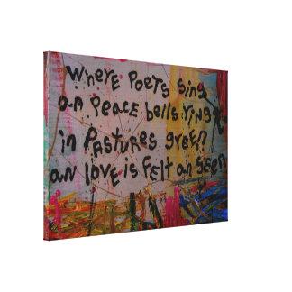 lona abstracta de la tapicería impresiones en lona estiradas